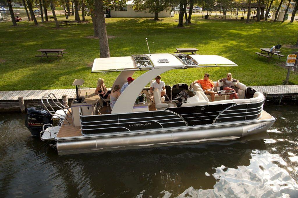 pontoon boat luxury