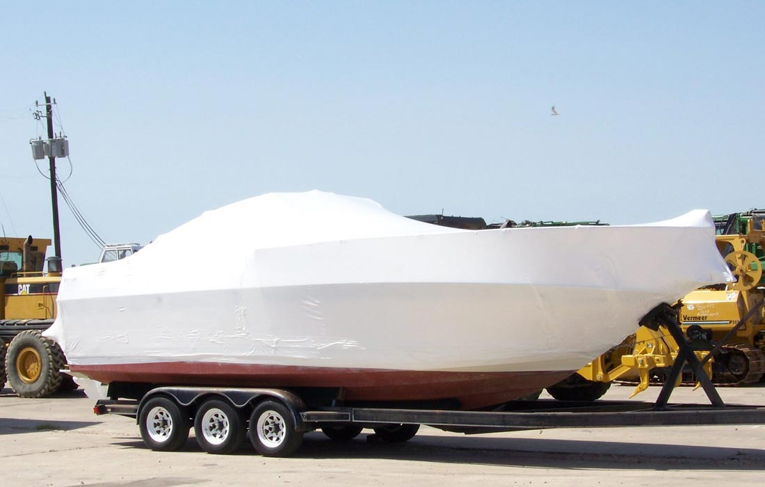 shrink wrap boat